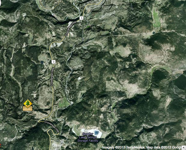 Whipsaw Creek satellite map