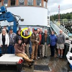 A tour of Triangle Island.My name is Karin Bodtker and I'm in charge of making maps for Living Oceans Society. That's me, circled.