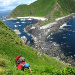 The field party climbed Puffin Rock to see the largest seabird colony in B.C.