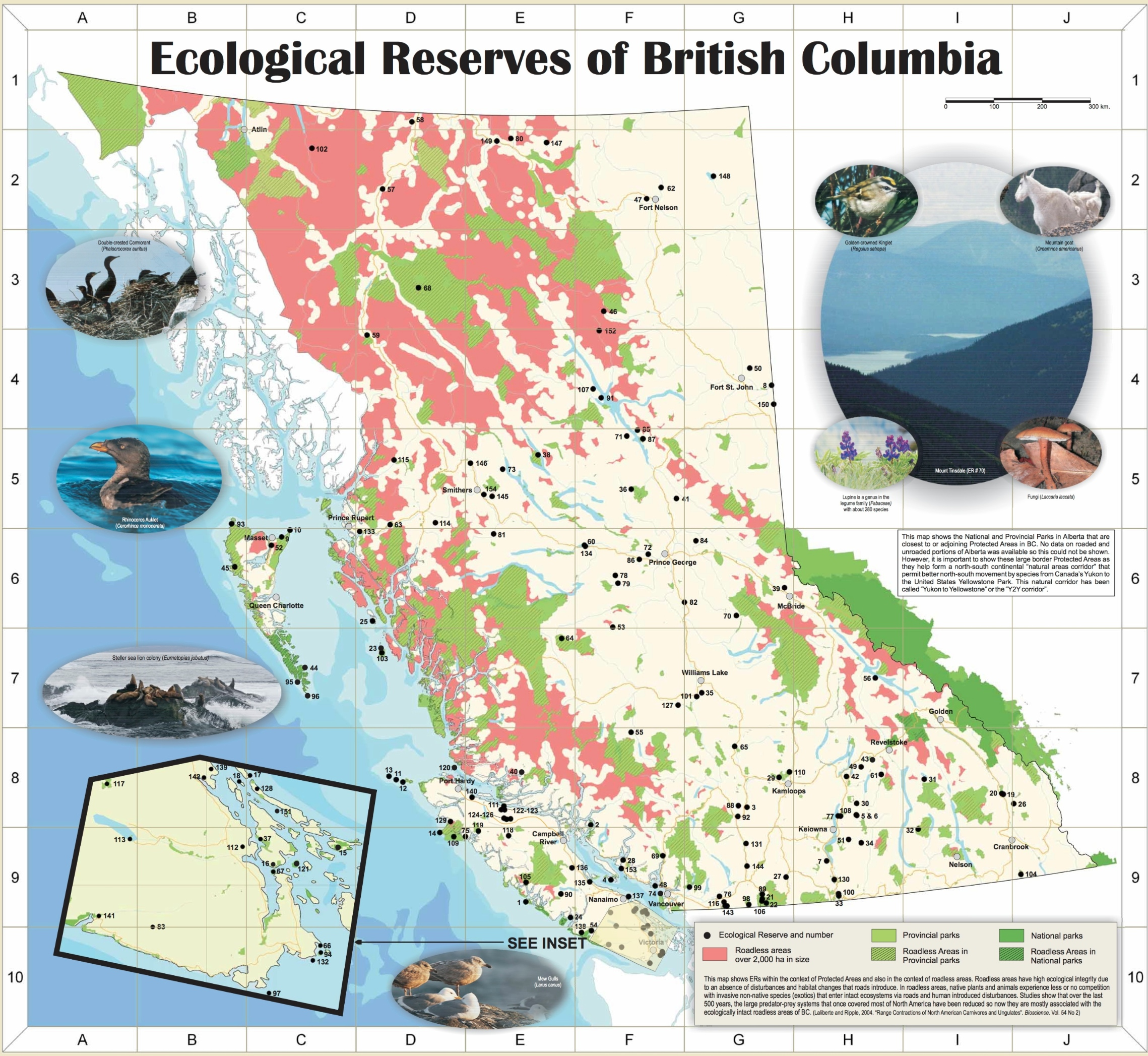 Map of Ecological Reserves - Friends of Ecological Reserves