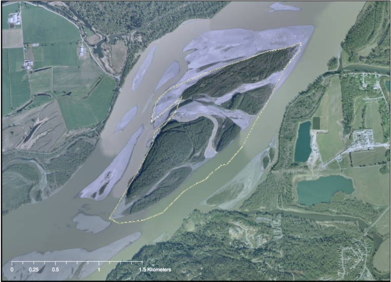 Fraser River Island Map