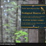 Ecological Reserve Siign-- for Pacific Spirit Park