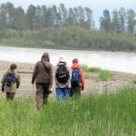 hiking the Fraser river islands