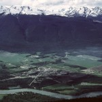 View of McBride from near old forestry lookout building -