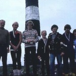 The students of the Marine Science and Diving class who were instrumental in getting the Ecological Reserve established. Here with Garry Fletcher and Trev and Flo Anderson, spring, 1980.