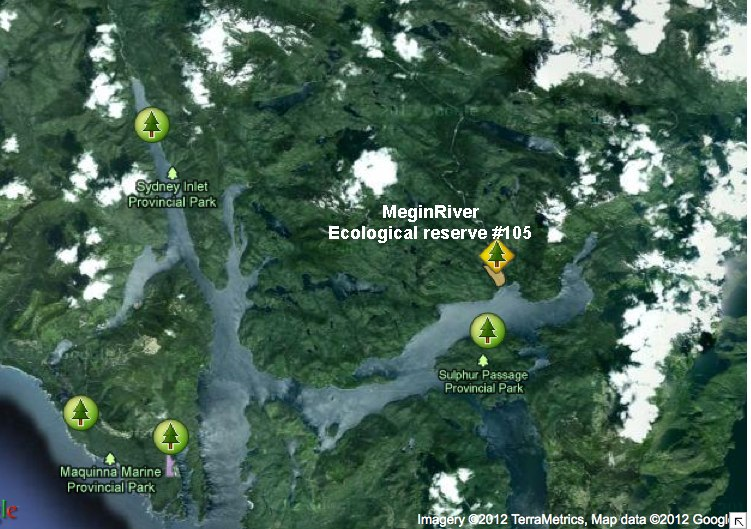 Megin River ER Satellite location MAP - Friends of