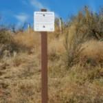 Reserve sign on east side