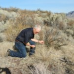 Garry examining bluebunch wheat grass.