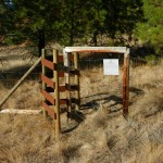A well constructed gate at the reserve.