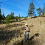 Laurie Rockwell in his Ecological Reserve.