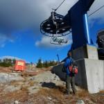 Ski lift terminus near the reserve.