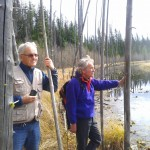 Garry Fletcher and Norbert Maertens by Lilypad lake