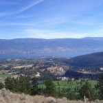 Okanagan Lake from the top of the reserve.