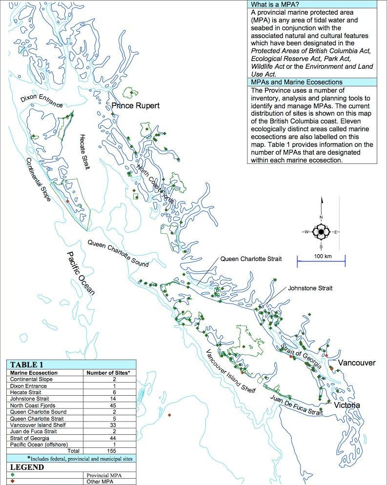 MPAs in British Columbia