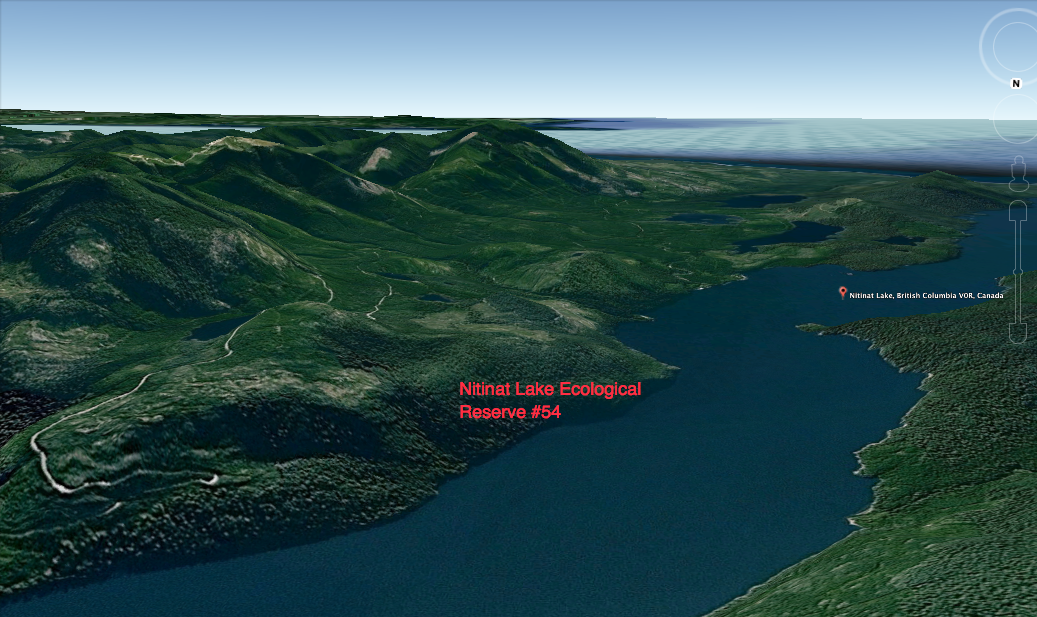 Nitinat Lake Images From Google Earth Friends Of