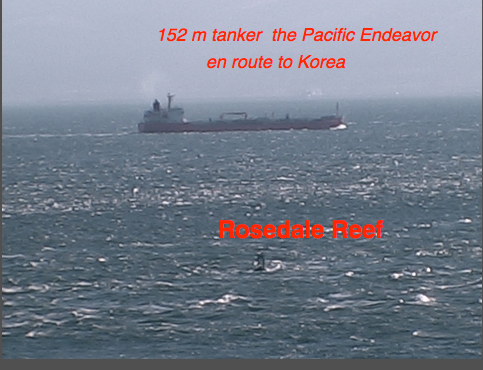 Tanker within 2 km of Race Rocks