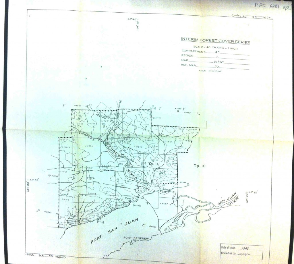 1942 Map of San Juan River Estuary