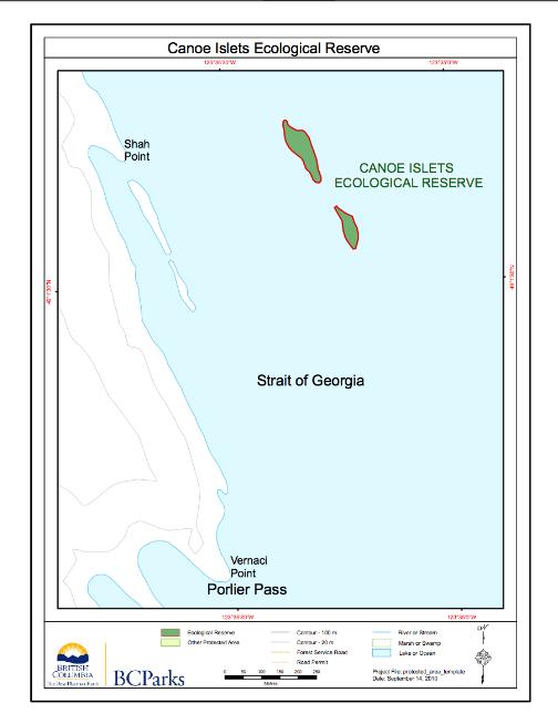 Canoe Islaets ER # 17 map